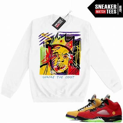 5s Crewneck Basquiat Sweatshirt Biggie Sneaker