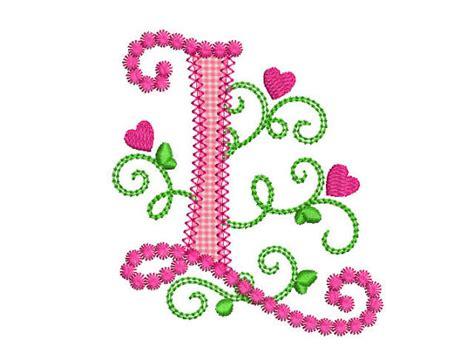 cute letter  alphabet  lil princess hearts applique