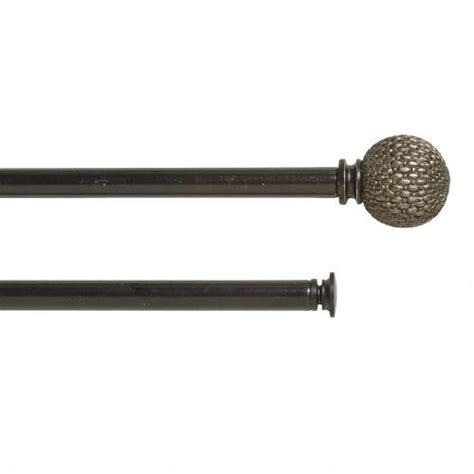 Telescoping Curtain Rod Set by Woven Adjustable Curtain Rod Set Tree