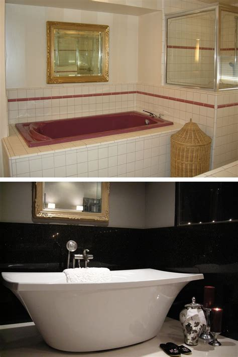 bathroom bathtub remodel before and after by granite