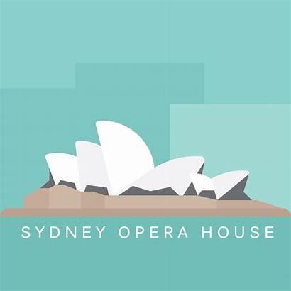 Opera Sydney Illustration Cans Animation Cities Mythology