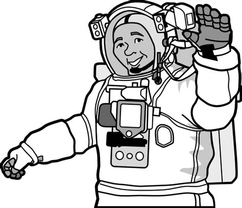 astronaut clipart black and white smiling astronaut clip at clker vector clip