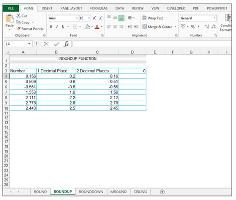 Excel Ceiling Function by Roundup Rounddown Mround Ceiling Functions In