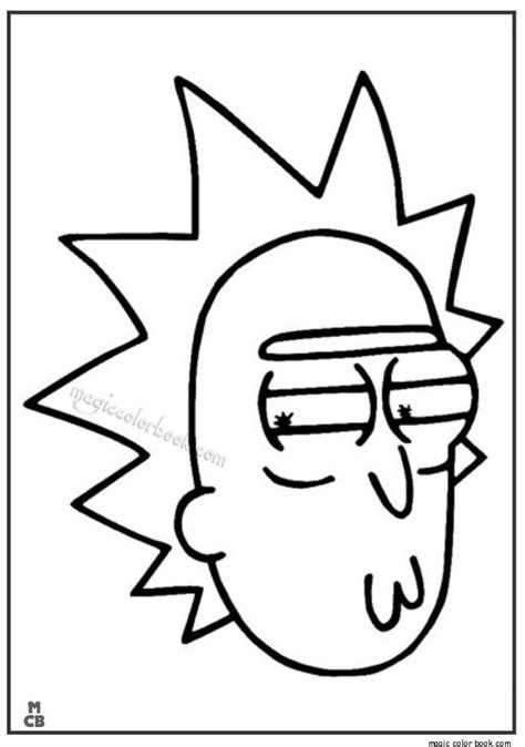 Pin by K C on Coloring pages in 2019 | Rick, morty drawing