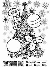 Coloring Quiver Kerstmis Kleurplaat Weihnachten Malvorlage Coloringpage Stemmen Stimmen sketch template