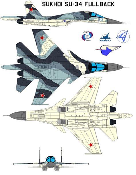sukhoi design bureau su 34 su 27ib flanker fighter bomber aircraft russia