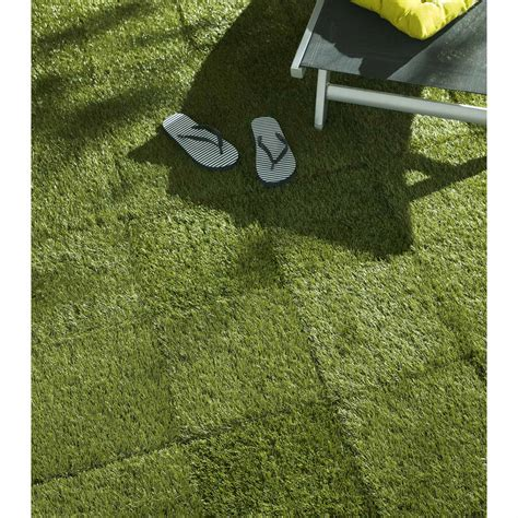 dalle clipsable gazon synth 233 tique vert l 30 x l 30 cm x ep 30 mm leroy merlin