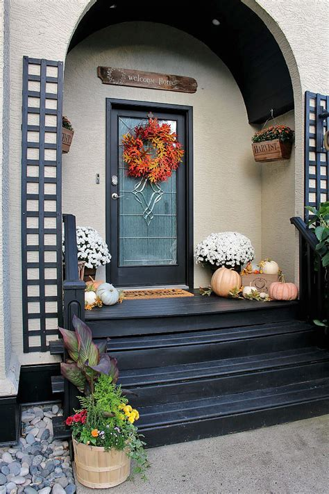 Fall Front Porch Decorating Ideas by Fall Front Porch Clean And Scentsible