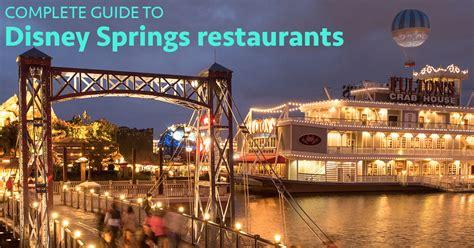 disney springs restaurants  dining wdw prep school