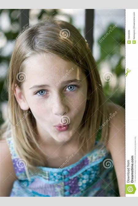 Young Tween Girl Whistling Royalty Free Stock Photo ...