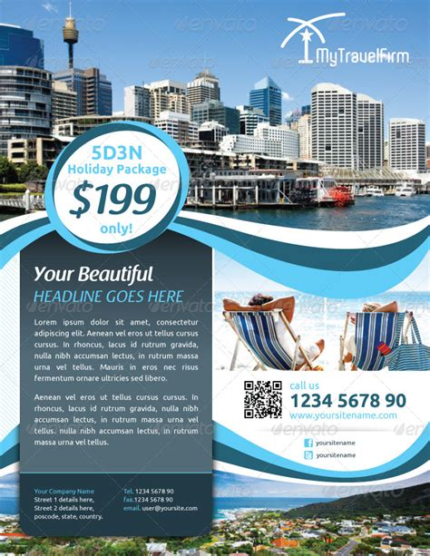 tourism flyer vol  kitcreativestudio graphicriver