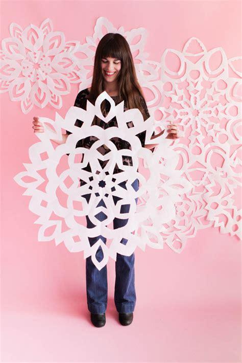 oversized snowflake decor paper snowflake pattern