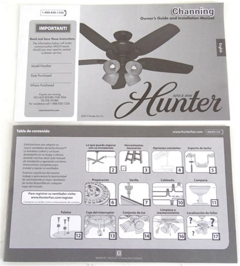 new hunter 52 quot channing ceiling fan replacement owners