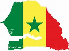 Clipart Senegal Flag Map