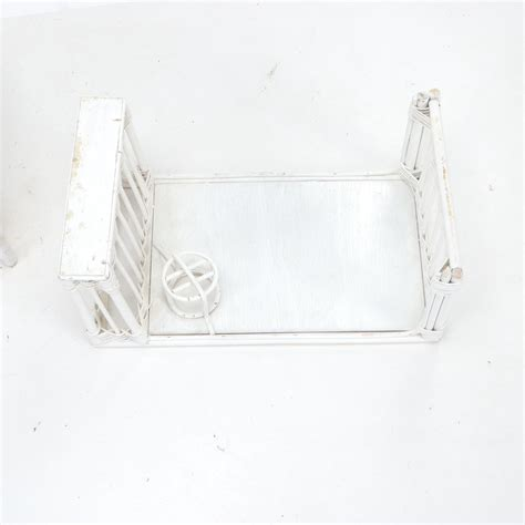 painted wicker bed tray  magazine rack   table ebth