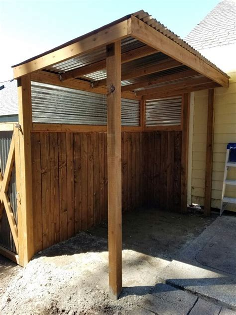 covered bbq area  privacy fence  built diy outdoor