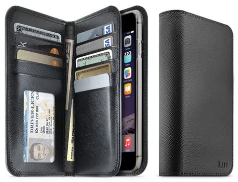 this iphone 6 plus has an actual wallet in it the