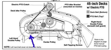 Mtd 46 Inch Deck Belt Diagram by Mtd 46 Deck Spindle Diagram Mtd Free Engine Image For