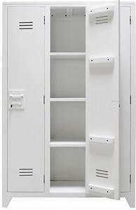 Armoire Bois Blanc : hk living armoire casier bois blanc hk living petite lily interiors ~ Teatrodelosmanantiales.com Idées de Décoration