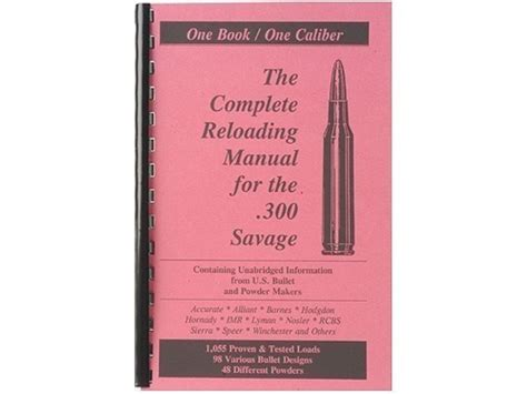 300 Savage Reloading Manual
