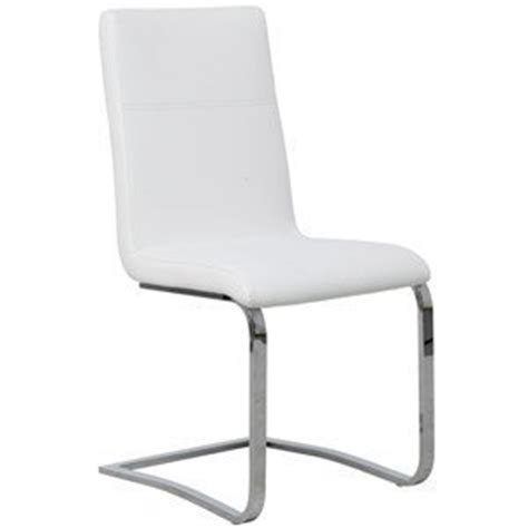 cantilever white leather dining chair chrome frame