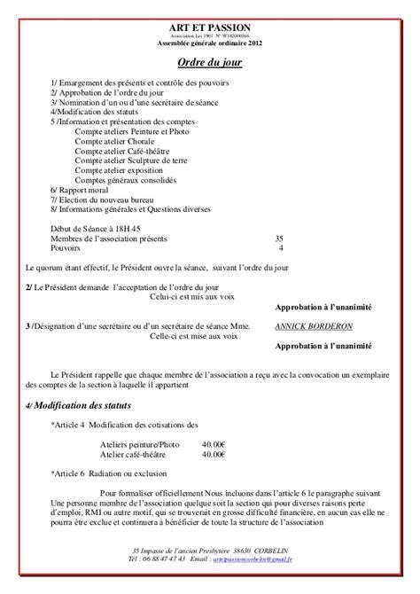 bureau d une association loi 1901 rapport et 2012
