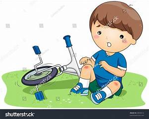 Illustration Boy Who Bruised His Knees Stock Vector ...
