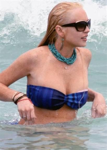 Bikini Lindsey Boob Lohan Sleep Miami Glamour