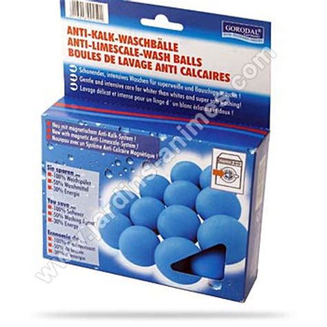 boules de lavage anti calcaire lave linge x6 produit