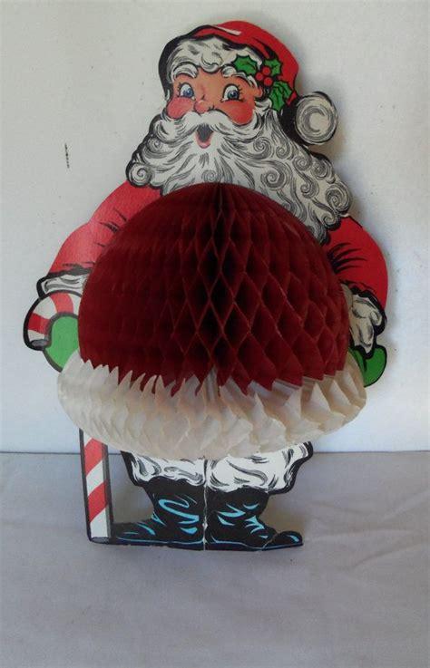 vintage santa claus honeycomb die cut beistle  berryetsy