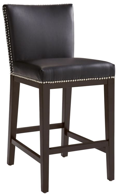 leather counter chairs vintage brown leather counter stool from sunpan 65871 3698