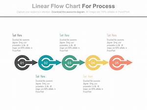 Ppt Linear Flow Chart For Process Flow Flat Powerpoint