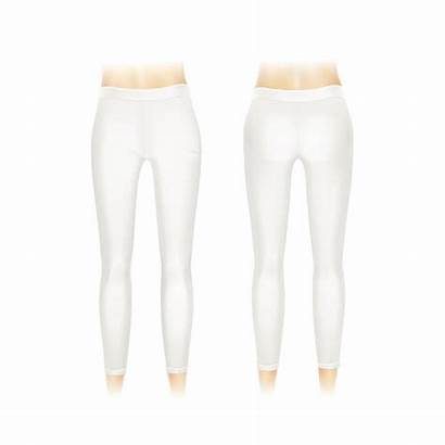 Leggings Vector Pants Clip Illustrations Background Royalty