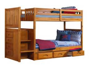 discovery world furniture honey mission staircase bunk beds with desk hutch
