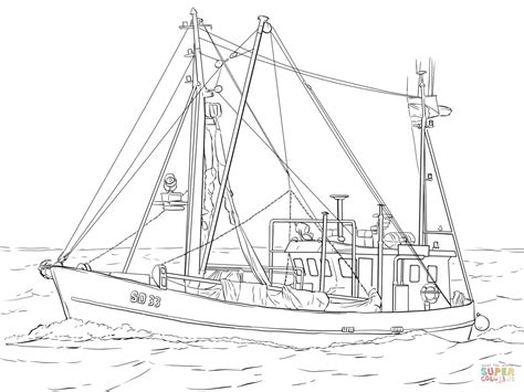 fishing boat coloring page  printable coloring pages