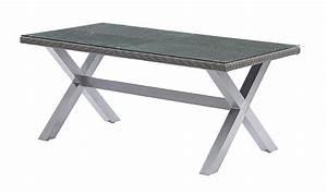 Table De Jardin Tressé : table de jardin en rsine tresse grise 8 places ~ Nature-et-papiers.com Idées de Décoration