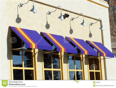 colorful store front stock image image  glass awning