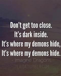 Demons lyrics by Imagine Dragons ilaida.tumblr.com | Q U O ...