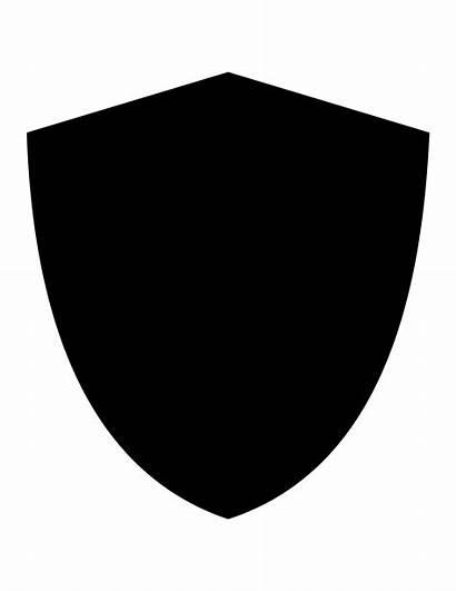 Shield Clipart Basic Transparent Clip Siluet Svg