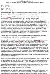 Sample Research Proposal Example