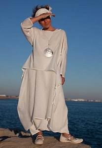 Vêtements En Lin Et Coton : sarouel jupe en lin et robe tunique looks pinterest ensemble femme voile de coton et ~ Carolinahurricanesstore.com Idées de Décoration