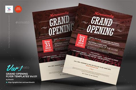 Grand Opening Flyers Vol.01 By Kinzi21