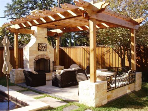 patio furniture on a budget home design ideas and pictures wooden pergola with fireplace for