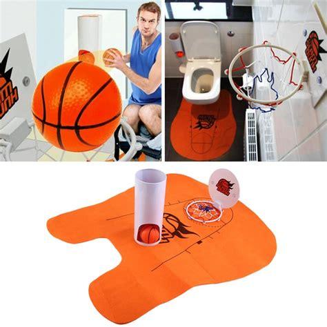 bathroom prank ideas 1set slam dunk toilet basketball bathroom rug prank gift