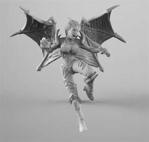 Dota 2 Queen Of Pain 3D Print Model 3D Model 3D Printable