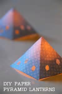 diy paper pyramid lanterns tinkerlab
