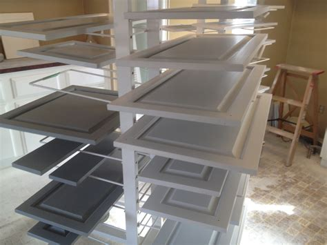 cabinet door drying rack two color kitchen cabinets painting guys