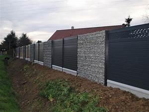 Mur De Cloture En Gabion : cl tures et portails ~ Edinachiropracticcenter.com Idées de Décoration