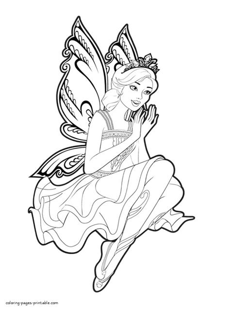 Kleurplaat Mariposa by Coloring Pages Mariposa And The Princess