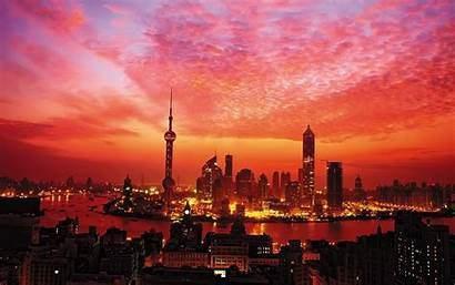 Shanghai Wallpapers China Sunset Shangai Landscape Painting